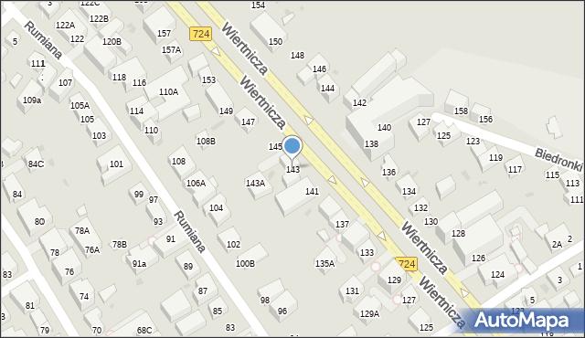 Warszawa, Wiertnicza, 143, mapa Warszawy