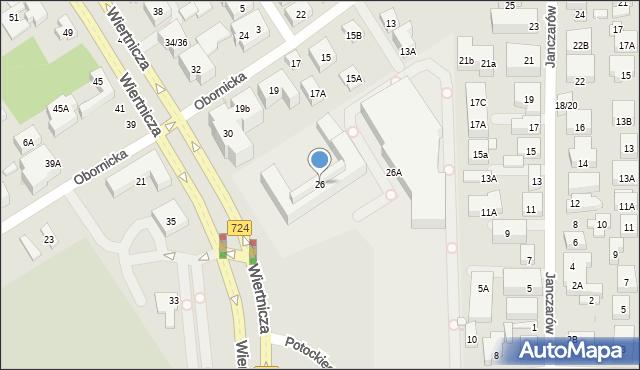 Warszawa, Wiertnicza, 26, mapa Warszawy