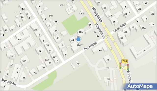 Warszawa, Wiertnicza, 39A, mapa Warszawy