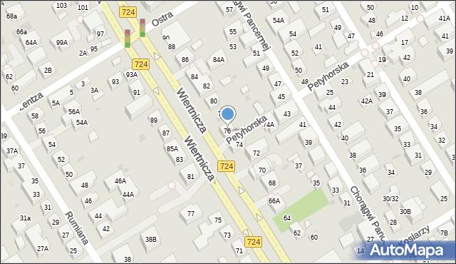Warszawa, Wiertnicza, 76, mapa Warszawy