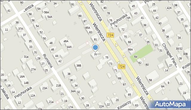 Warszawa, Wiertnicza, 77, mapa Warszawy