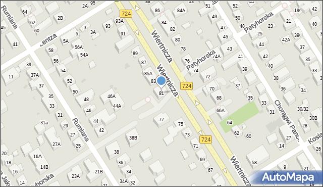 Warszawa, Wiertnicza, 81, mapa Warszawy