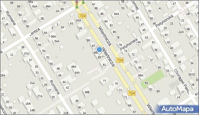 Warszawa, Wiertnicza, 83, mapa Warszawy