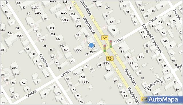 Warszawa, Wiertnicza, 95, mapa Warszawy