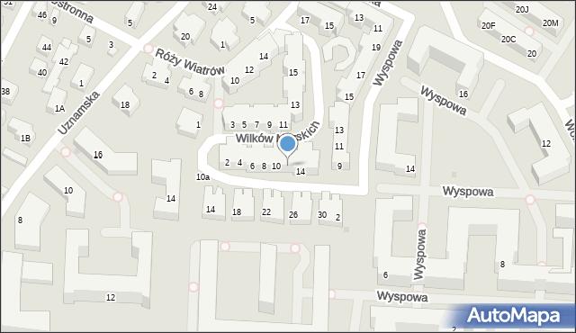 Warszawa, Wilków Morskich, 12, mapa Warszawy