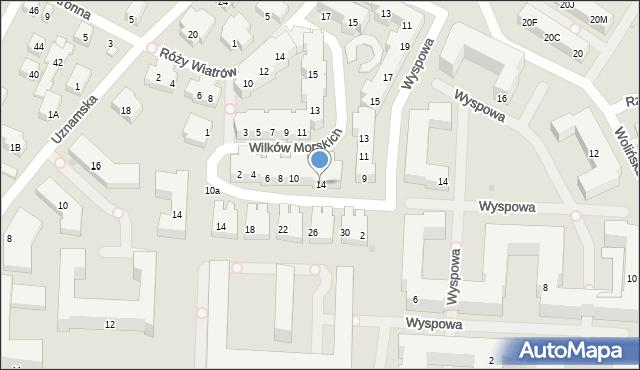 Warszawa, Wilków Morskich, 14, mapa Warszawy