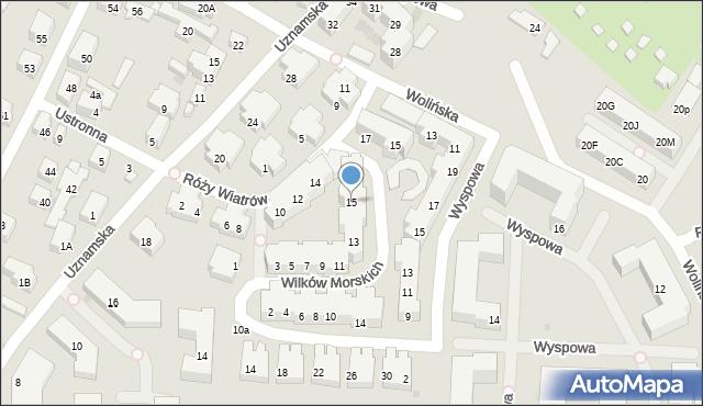 Warszawa, Wilków Morskich, 15, mapa Warszawy