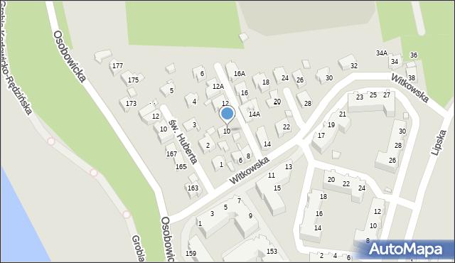Wrocław, Witkowska, 10, mapa Wrocławia