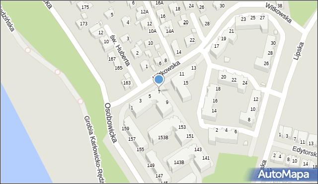 Wrocław, Witkowska, 7, mapa Wrocławia