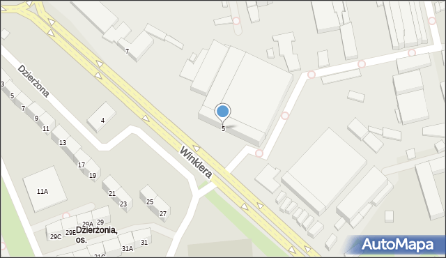 Zabrze, Winklera Wilibalda, prof., 5, mapa Zabrza