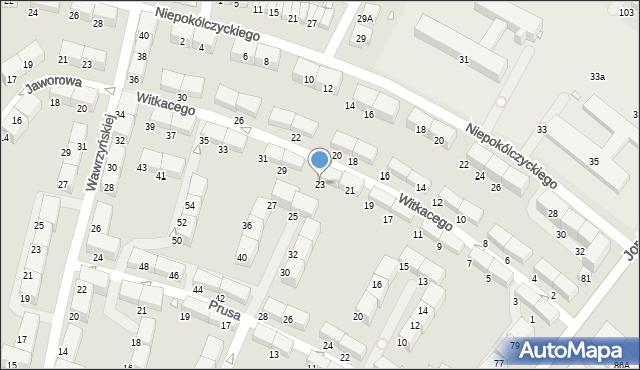 Zabrze, Witkacego Stanisława, 23, mapa Zabrza