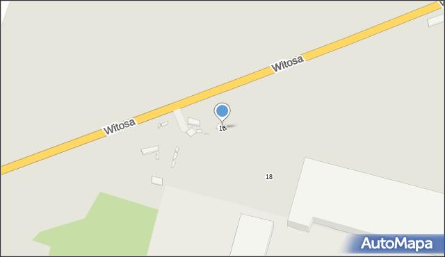 Zabrze, Witosa Wincentego, 16, mapa Zabrza