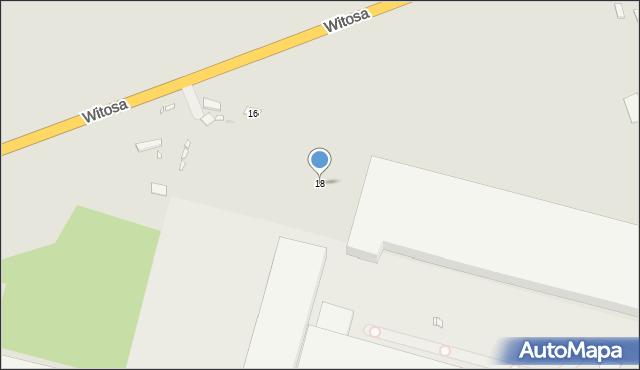 Zabrze, Witosa Wincentego, 18, mapa Zabrza