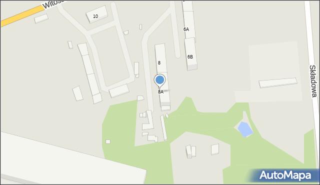 Zabrze, Witosa Wincentego, 8A, mapa Zabrza