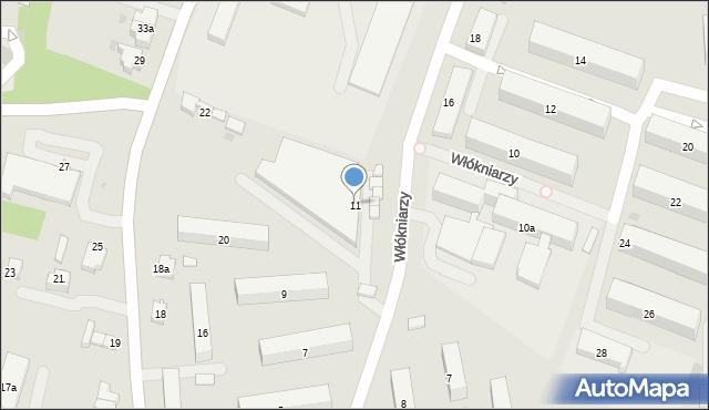 Andrychów, Włókniarzy, 11, mapa Andrychów