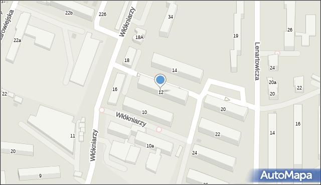 Andrychów, Włókniarzy, 12, mapa Andrychów