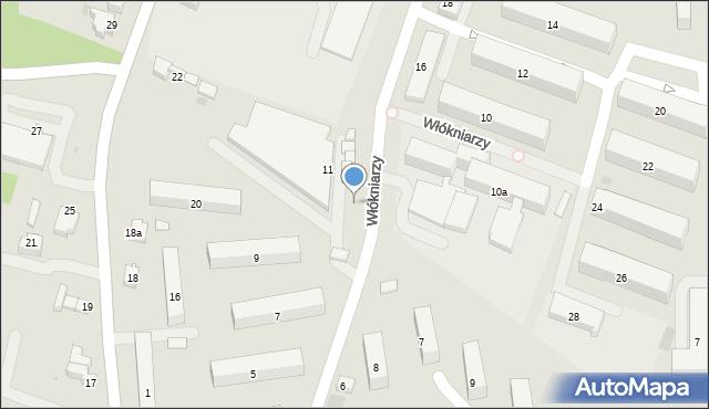 Andrychów, Włókniarzy, 13, mapa Andrychów