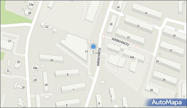 Andrychów, Włókniarzy, 17, mapa Andrychów