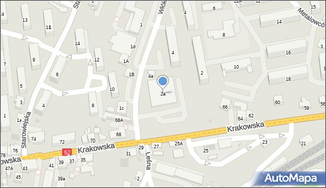 Andrychów, Włókniarzy, 2a, mapa Andrychów