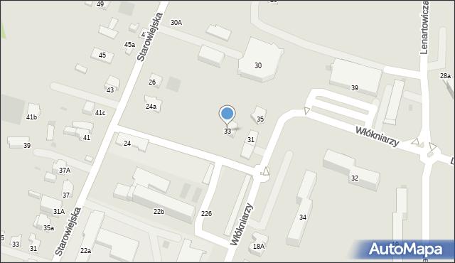Andrychów, Włókniarzy, 33, mapa Andrychów