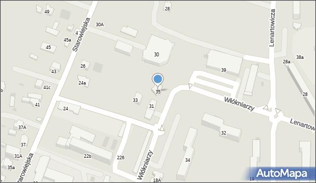 Andrychów, Włókniarzy, 35, mapa Andrychów