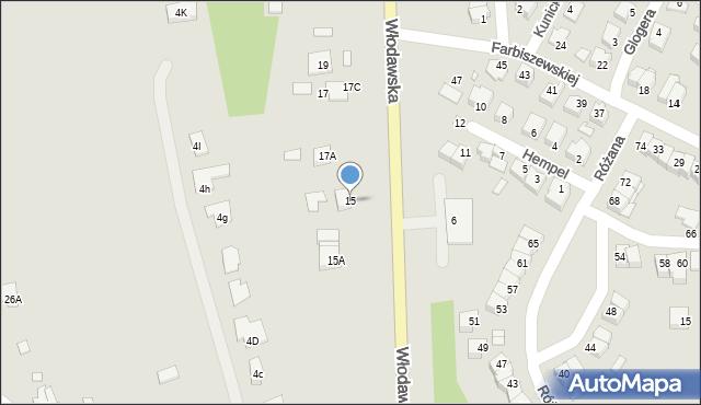Chełm, Włodawska, 15, mapa Chełma