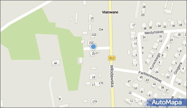 Chełm, Włodawska, 21, mapa Chełma
