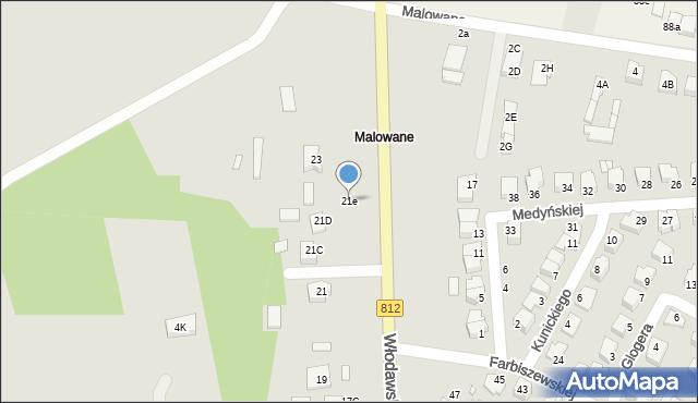Chełm, Włodawska, 21e, mapa Chełma
