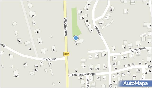 Chełm, Włodawska, 4, mapa Chełma