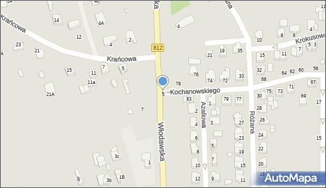 Chełm, Włodawska, 5, mapa Chełma