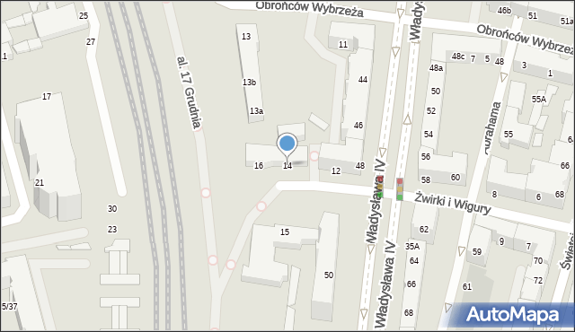 Gdynia, Władysława IV, 14, mapa Gdyni