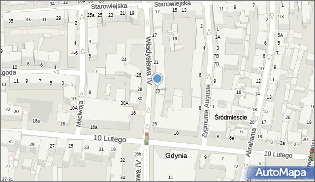 Gdynia, Władysława IV, 23, mapa Gdyni