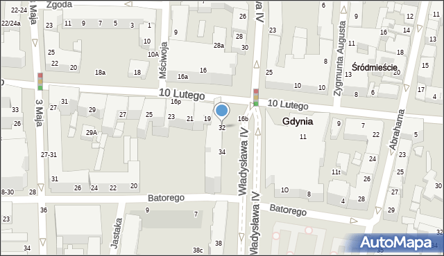 Gdynia, Władysława IV, 32, mapa Gdyni