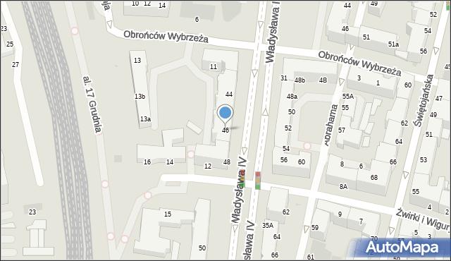 Gdynia, Władysława IV, 46, mapa Gdyni