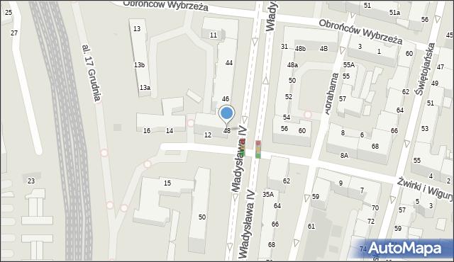 Gdynia, Władysława IV, 48, mapa Gdyni