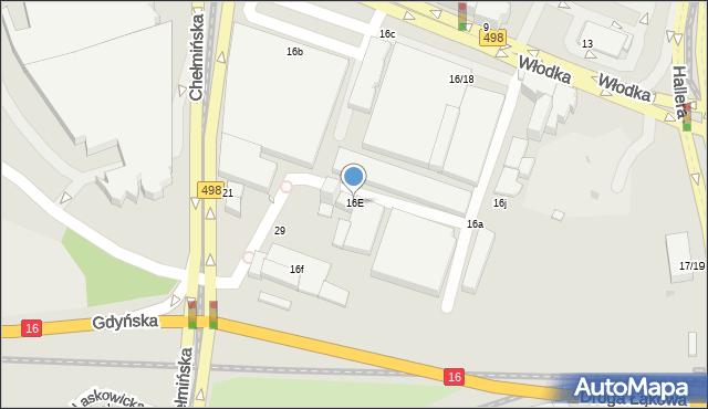 Grudziądz, Włodka Józefa, 16E, mapa Grudziądza