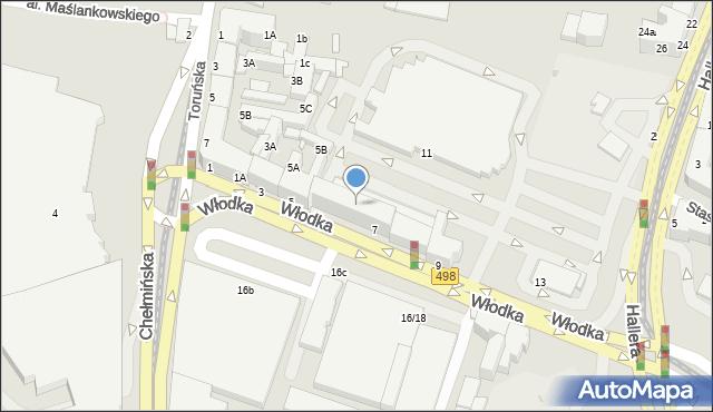 Grudziądz, Włodka Józefa, 7p, mapa Grudziądza