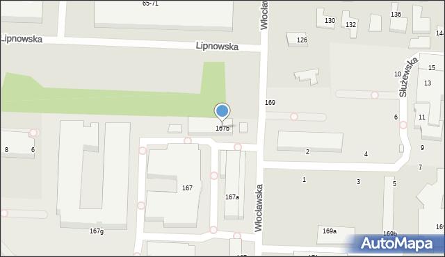 Toruń, Włocławska, 167b, mapa Torunia