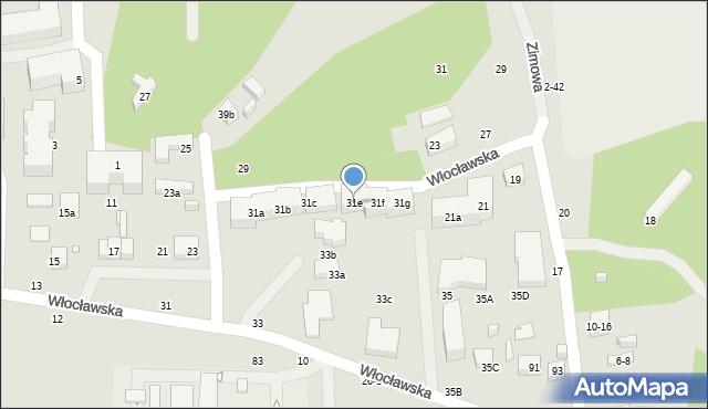 Toruń, Włocławska, 31e, mapa Torunia