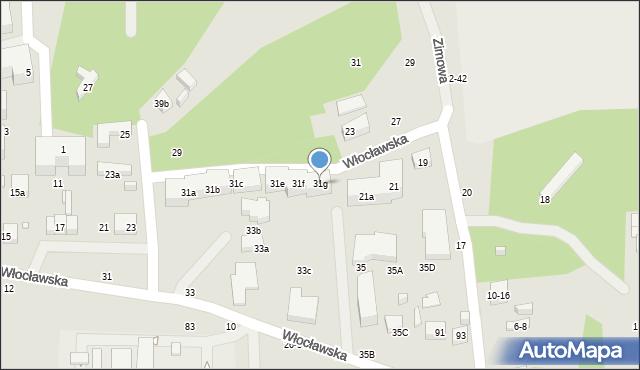 Toruń, Włocławska, 31g, mapa Torunia