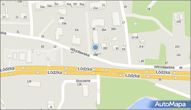 Toruń, Włocławska, 35B, mapa Torunia