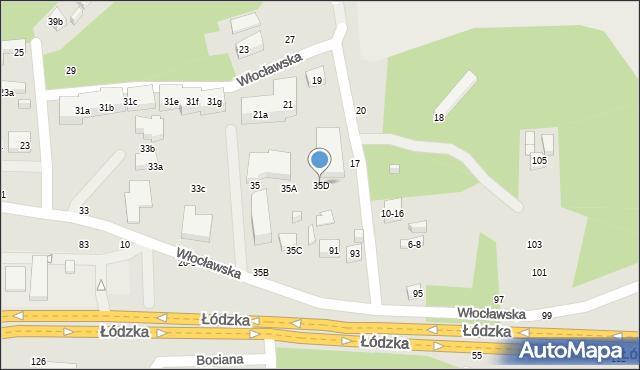 Toruń, Włocławska, 35D, mapa Torunia