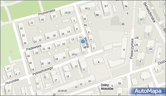 Warszawa, Włoska, 1A, mapa Warszawy