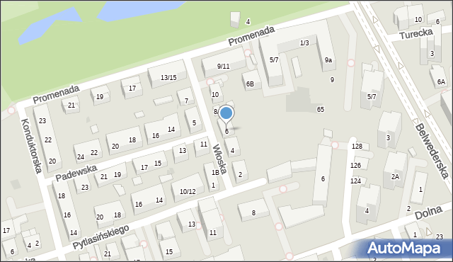 Warszawa, Włoska, 6, mapa Warszawy