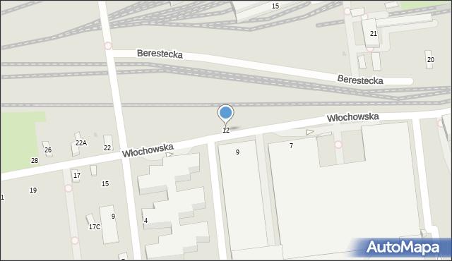 Warszawa, Włochowska, 12, mapa Warszawy