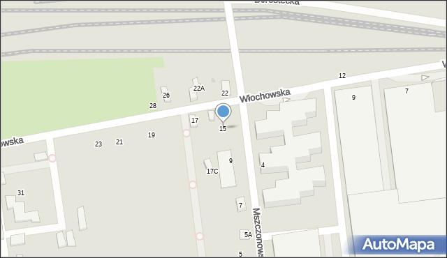 Warszawa, Włochowska, 15, mapa Warszawy