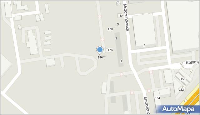 Warszawa, Włochowska, 19A, mapa Warszawy