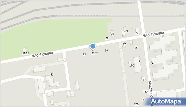 Warszawa, Włochowska, 21, mapa Warszawy