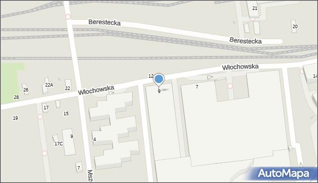Warszawa, Włochowska, 9, mapa Warszawy