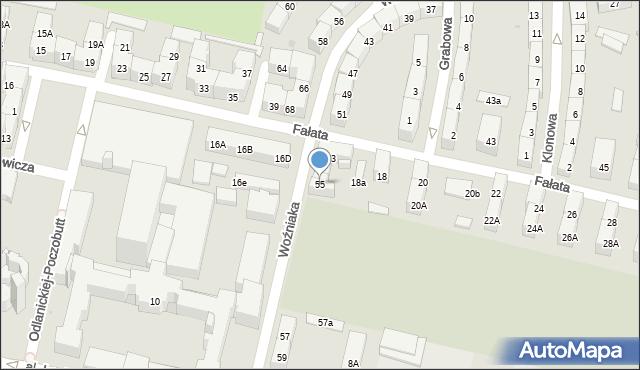 Bytom, Woźniaka Piotra, 55, mapa Bytomia